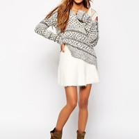 Abercrombie & Fitch Fluffy Knitted Skirt