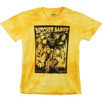 Butcher Babies Men's  Attack T-shirt Yellow