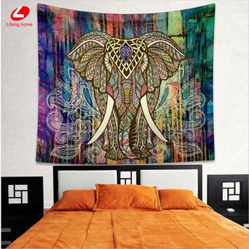 Elephant Tapestry Home Decorative Mandala Tapestry Indian 130cmx150cm 153cmx203cm Boho Wall Carpet Bohemia wall decor Christmas