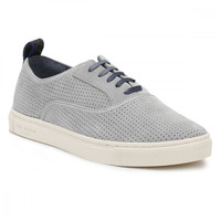 Ted Baker Mens Light Grey Odonel Perforated Suede Trainers