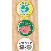 Peas/Seed/Apple Button Pack