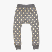 Beau Loves Gold Dots Davenport Pants in Grey Graphite