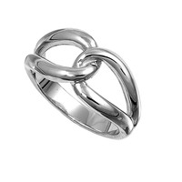925 Sterling Silver Promise Knot 10MM Ring