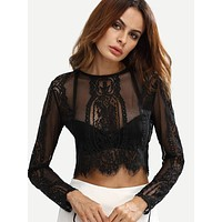 Eva Sheer Crop