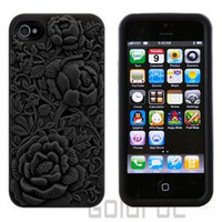 New 3D Sculpture Rose Flower Case Soft Silicone Cover for Apple iPhone 5 10Color