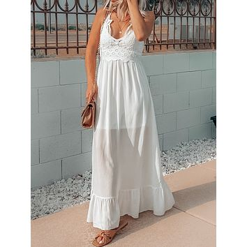 SOMETHING TO ADMIRE DRESS IN WHITE