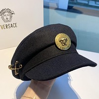 Wearwinds Versace New fashion couple sun protection cap hat Black