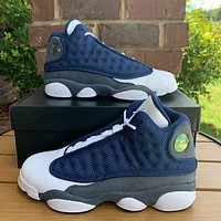 Air Jordan 13 Flint colorblock high-top sneakers shoes