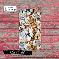 Cat Collage Funny Custom iPhone 4 and 4s Case and Custom iPhone 5 and 5s and 5c Case