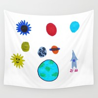 MY SPACE Wall Tapestry by Azima