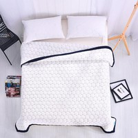 Summer Air Condition Blanket Embroidery Process Chic Super Soft Cotton Blanket  Quilt  Comforter Duvet