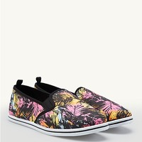 Neon Palm Slip-On Sneakers