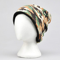 Camouflage Winter Snood Scarf and Beanie