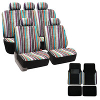 Baja Inca 12-piece Saddle Blanket Seat Covers Set with Match Plush Two-tone Carpet Floor Mat | Overstock.com Shopping - The Best Deals on Car Seat Covers