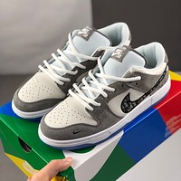 Nike Dior breathable canvas shoes casual low - top men and women-1