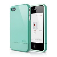elago S4 Glide Case for AT&T, Sprint and Verizon iPhone 4/4S - eco friendly packaging (Coral Blue)