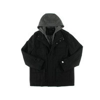 Calvin Klein Mens Wool Hooded Coat