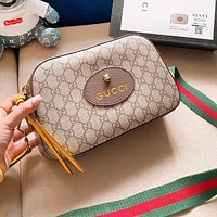 GUCCI Fashion Women Men Shopping Bag Leather Crossbody Satchel Shoulder Bag
