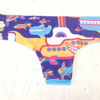 The Beatles Yellow Submarine Brazilian Cut Low-Rise Panties Spring Collection