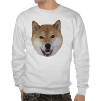 Shibe Pullover Sweatshirt from Zazzle.com