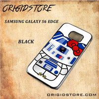 R2D2 Star Wars Hello Kitty Black White Snap On 3D For Samsung Galaxy S6 Edge Case
