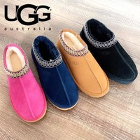 UGG Winter Popular Women Men Warm Wool Snow Boots Calfskin Shoes