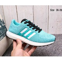 ADIDAS 2018 trendy men's and women's fashion comfortable sneakers F-A36H-MY light blue