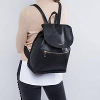 ASOS Soft Backpack with Zip Detail at asos.com