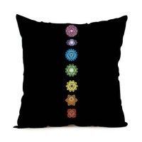 HD Print Chakra Cushion Cover Pillow Cases