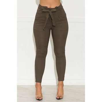 Keep It Moving Pants Olive Green