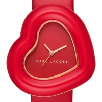 MARC JACOBS Heart Leather Strap Watch, 39mm | Nordstrom