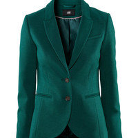 Notched Collar Single Breasted Long Sleeves Slim Blazer Coat