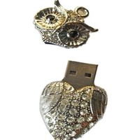 High Quality 8 GB Owl Crystal Jewelry USB Flash Memory Drive Necklace:Amazon:Computers & Accessories