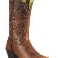 Ariat® Women's Sassy Brown Legend Punchy Square Toe Western Boot