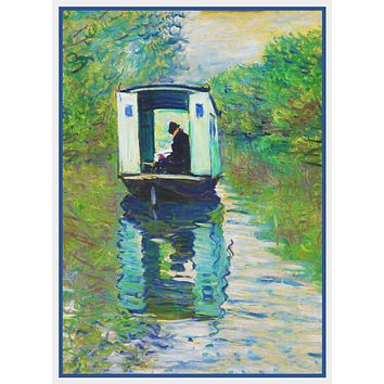 The Boat Studio inspired by Claude Monet's impressionist painting Counted Cross Stitch Pattern