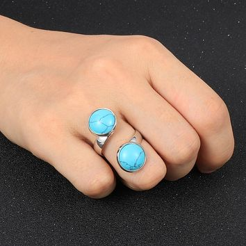 Adjustable Turquoise Friendship Ring
