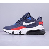 Nike Air Max 270 React Bauhaus New fashion hook running shoes Blue