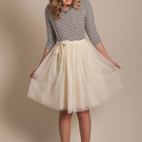 Harper Cream Tulle Skirt