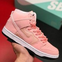 Nike Classic Retro Women Personality Sport Running Shoes High Tops Sneakers Pink