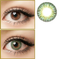 GEO Tri Color World Green Circle Lenses Colored Contacts Cosmetic Color Circle Lens | EyeCandy's