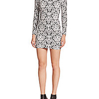 Nightcap Clothing - Printed Scoopback Mini Dress - Saks Fifth Avenue Mobile