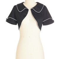 ModCloth Rockabilly Short Length Short Sleeves Fancied Up and Away Jacket