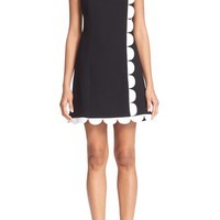 Victoria, Victoria Beckham Scallop Trim Dress | Nordstrom