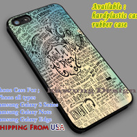 Panic at The Disco Lyric Art  iPhone 6s 6 6s+ 5c 5s Cases Samsung Galaxy s5 s6 Edge+ NOTE 5 4 3 #music #patd dl7