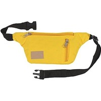 Yellow Travel Fanny Pack w/ Phone Pocket and Key Ring