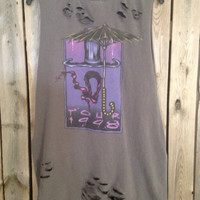 Grunge Cinderella band distressed with holes tank top size xlarge