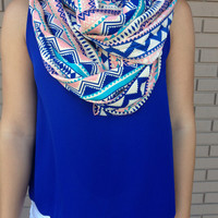 Royal Geo Tribal Infinity Scarf