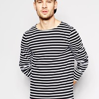 ASOS Stripe Long Sleeve T-Shirt With Boat Neck