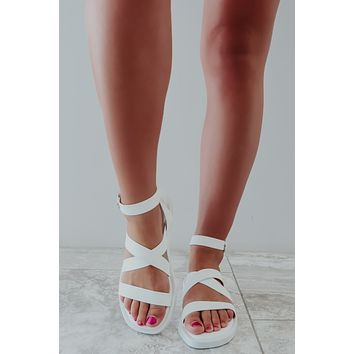 By The Way Sandals: White