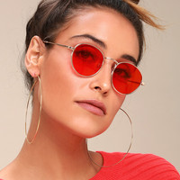 Be Yourself Gold and Red Sunglasses
